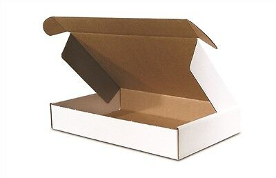 50 - 12 x 8 x 2 3/4  White -  DELUXE  - Front  Lock Protective Mailer Boxes
