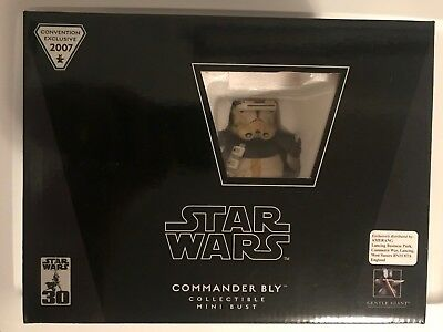 Gentle Giant Star Wars 2007 Con Exclusive COMMANDER BLY Collectible Mini Bust