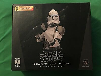 Gentle Giant Star Wars AFX Exclusive CORUSCANT CLONE TROOPER Deluxe Mini Bust