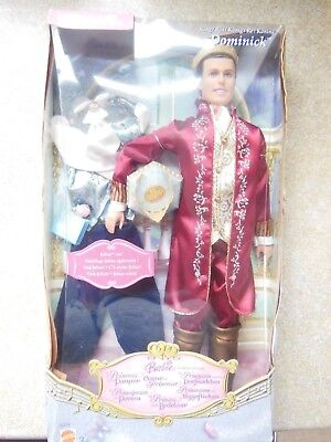 barbie - princess and pauper male doll dominick - new old stock