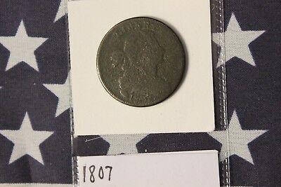 1807 Draped Bust Large Cent - Corroded (Z173)