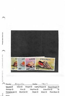 Lot of 34 Anguilla MNH Mint Never Hinged Stamps #97309 X