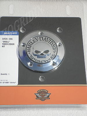 harley willie g skull points timer cover softail dyna touring electra glide flst