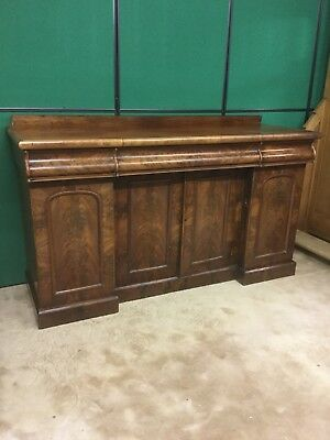 Antique Inverted sideboard / Cupboard With Drawers . Victorian