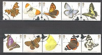 Vend Serie Timbres Obliteres Royaume Uni Annee 2013