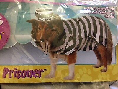 Rubie's Pet Shop Prisoner Dog Costume Small New