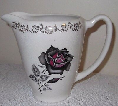 Lord Nelson Pottery Jug / Pitcher With Red Rose Designs