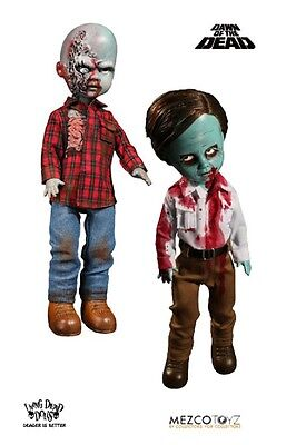 Living Dead Dolls Dawn Of The Dead Flyboy & Plaid Shirt Zombie Figure Set Mezco