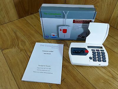 Carephone Telephone Emergency Panic Alarm Base Unit &Cables Only See Description