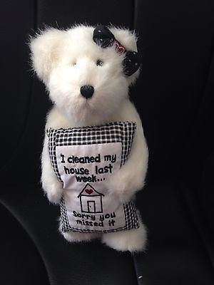 Genuine Boyds Bear 'I cleaned my house last wk sorry you missed it'
