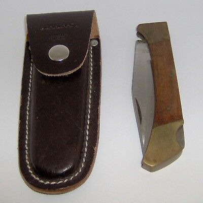 "VINTAGE ""DURACRAFT"" SINGLE-BLADE FOLDING POCKET KNIFE with LEATHER CASE"