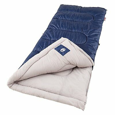 Coleman Sleeping Bag Lightweight Brazos Cold Weather Cool Outdoor Camping Hiking