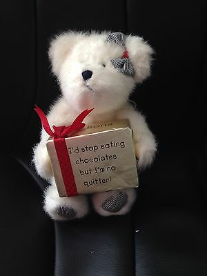 Genuine Boyds Bear 'I'd Stop Eating Chocolates But I'm No Quitter!