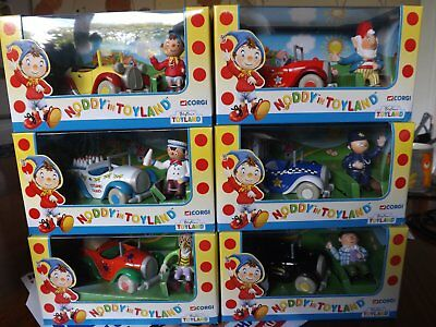 Noddy In Toyland Full Set Figures And Cars New In Boxes.