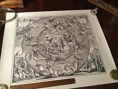 Antique Vintage Astronomy Astrology Map Chart Lithograph Print Engraving 2 of 6