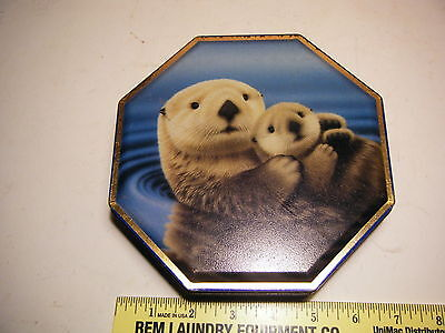 Vintage Sea Otters Tin By Monterey Bay