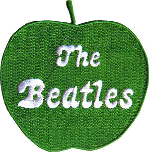 """BEATLES 1960's Pop Rock and Roll Band GREEN APPLE Iron On Sew On PATCH 3"""" New"""