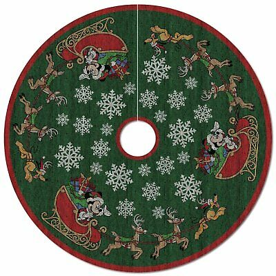 2017 Hallmark Mickey Mouse Oh, What Fun! Tree Skirt With Light
