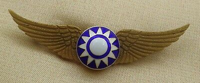 Chinese Pilot Wing Badge // Flying Tiger Avg / Usaf Ww2