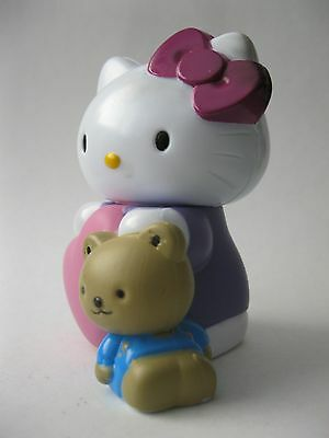 HELLO KITTY AND TEDDY BEAR cake topper stamped Sanrio 2012 Bakery Crafts 3.25 in