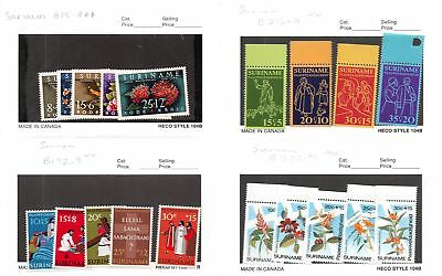 Lot of 59 Suriname MNH Mint Never Hinged Stamps #108371