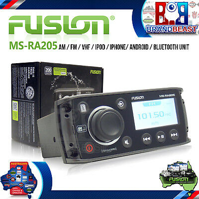 Fusion Ms-ra205 Marine Stereo Mp3 Ipod Iphone Am Fm Receiver Multi Zone Boat Aud