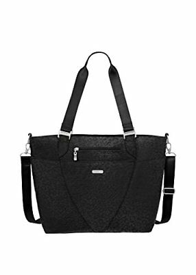 Baggallini Avenue Travel Tote, Black Cheetah, One Size