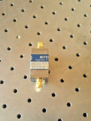 Miteq AMF-2S-2021-20981 2.05Ghz To 2.1Ghz 20dB Amplifier