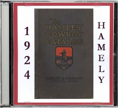 1924 Hamley's  Catalog No. 25 -CD - Saddles, Spurs ect