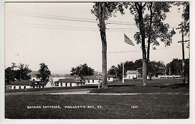 1920s RPPC LARGE MOXIE SIGN, Bayside Cottages, Mallets Bay Vermont