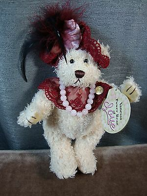 """Brass Button Bear Vanessa Power Bear Of LOVE 2000 12"""" with Tags"""