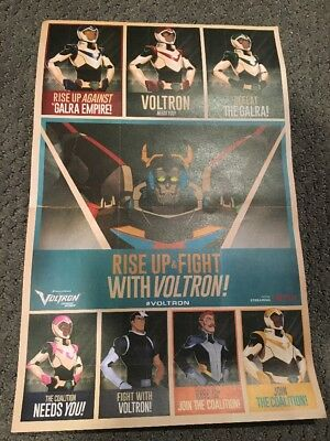 VINTAGE STYLE VOLTRON Rise Up & Fight NYCC 2017 Comic Con PROMO POSTER