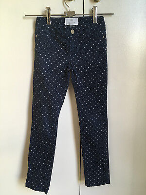 Country Road Girls Navy and White Spot Jeans Size 6