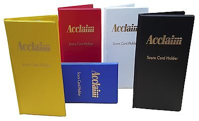 ACCLAIM Scorecard Holders x 12 Bowlers Large Plastic With Metal Clip Red Blue