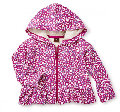 Tea Collection Ditsy Baby Zip Hoodie NWT