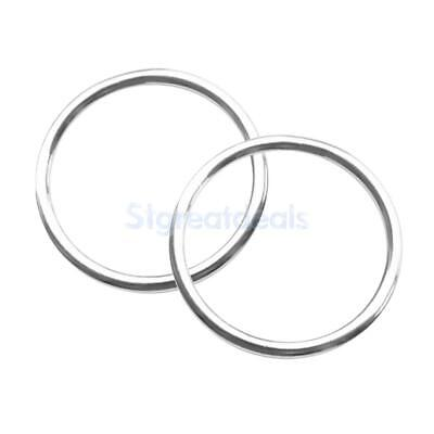 2pcs 4 x 40mm Polished Smooth Welded 316 Stainless Steel O-ring Round Ring
