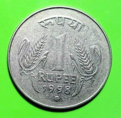 INDIA KM#92  COIN 1 rupee 1998 old VF free shipping