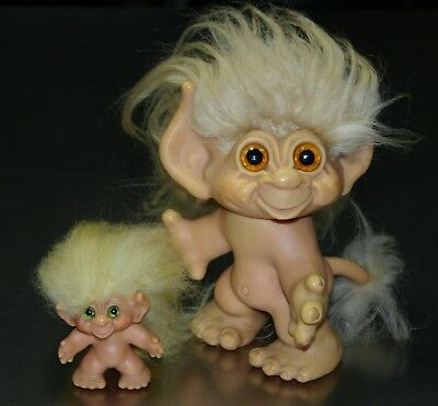 """Dam Tailed Troll lot - small 2.5"""" and large 6.5"""""""