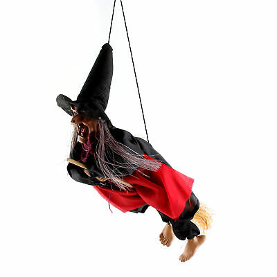 "11"" Halloween Hanging Witch Light & Talking Haunted House Prop Decor Laughing"
