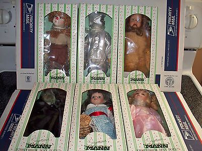 Seymour Mann Porcelain Hand Painted Wizard Of Oz Dolls - New - Complete Set Of 6