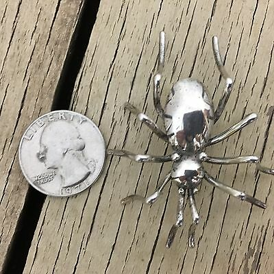 Large Spider Pin Brooch Vintage Sterling Silver Effie Spencer Navajo Indian 2""
