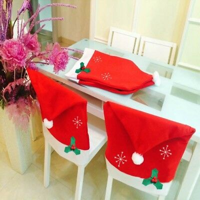 Removable Elastic Stretch Slipcovers Dining Room Chair Seat Cover Décor Xmas Kit