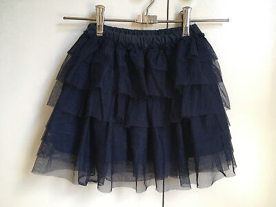 Ouch Navy Tulle Ruffle Skirt Size 5