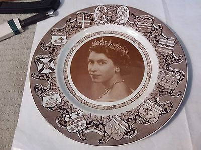 1953 The Coronation Of H.m. Queen Elizabeth Ii - Clarice Cliff Plate 10 1/2 Inch