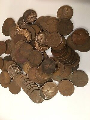 2 ROLLS OF 1916 D DENVER LINCOLN WHEAT CENTS FROM PENNY COLLECTION - $1.00 face