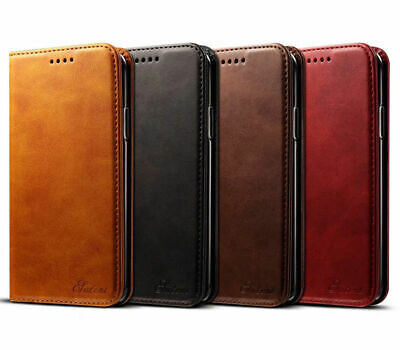 Real Genuine KDS Leather Wallet Flip Card Case Cover For iPhone 11 Pro XS MAX XR