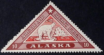 SCARCE 1925 United States Alaska Arctic Air Mercy Flight Cinderella stamp Mint