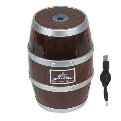 Electric Pencil Sharpener Automatic Desktop School Stationery Office Brown