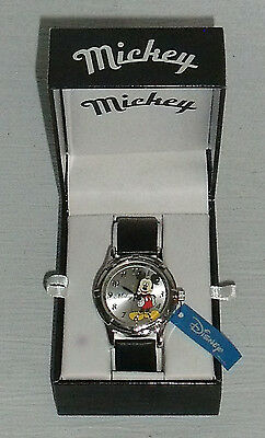 Mickey Mouse Watch NEW in Box MZ Berger Black Band
