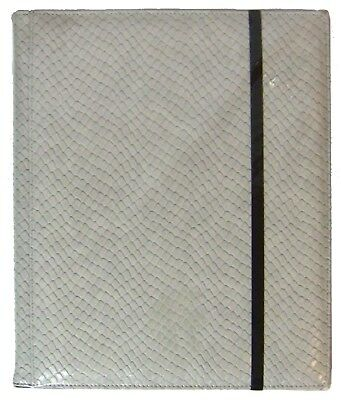 Legion 20 Page Side-Loading Dragon-Hide Textured Binder: White (Grey)